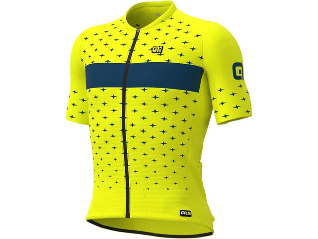 Alé Cycling PRR Stars SS Jersey Men, amarillo/Azul petróleo